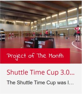 BWF Shuttle Time Project of the month